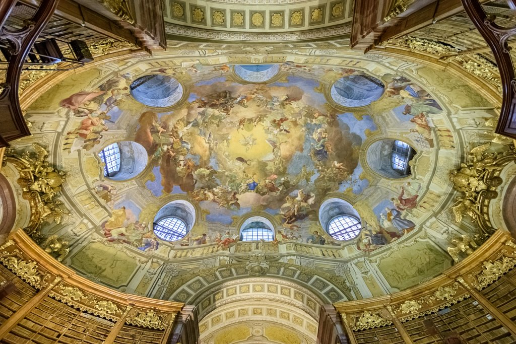 Austrian National Library's ceiling